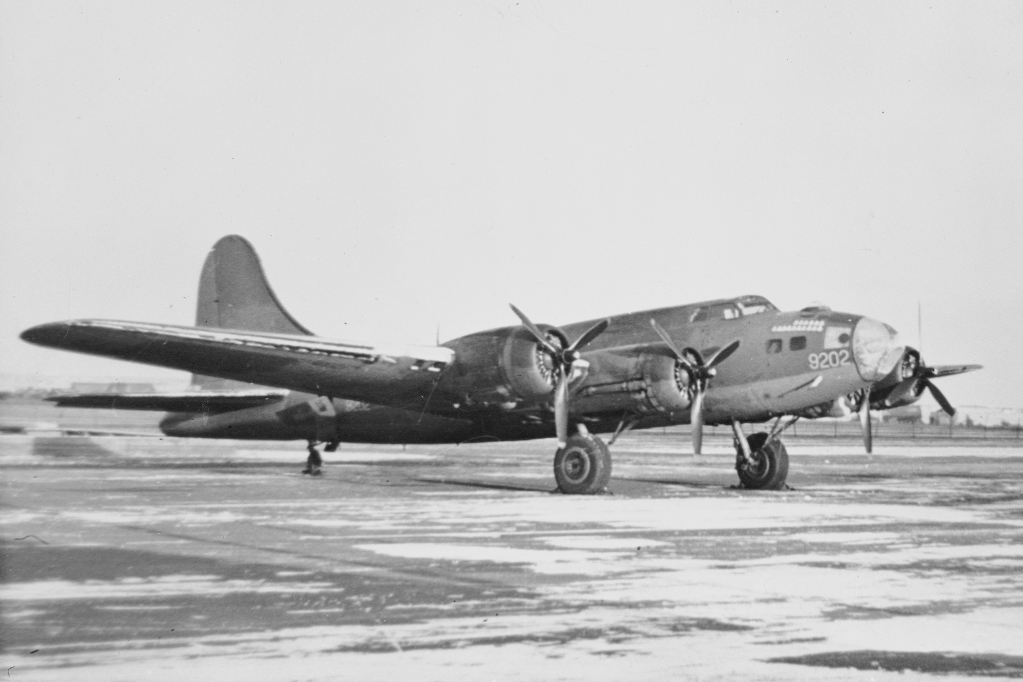 The Boeing B-17 Flying Fortress aircraft were bombers by design, but the RCAF versions—three B-17E models and three B-17F models—flew without armament since they were purely used as transport aircraft in Canadian service. PHOTO: DND Archives, RE64-957