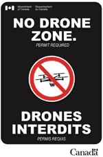 No drone zone - Permit required
