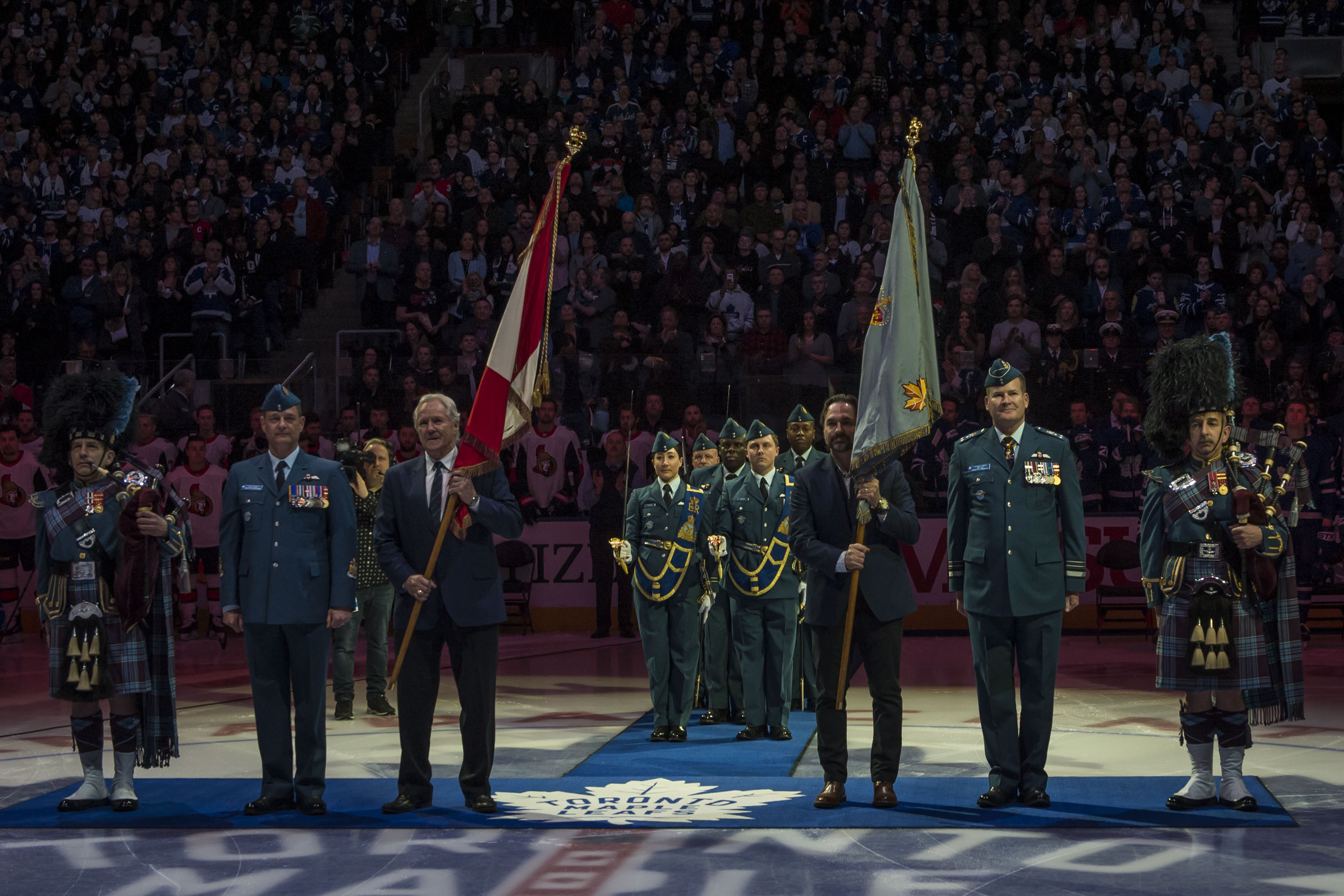 RCAF Colour Retirement at the Air Canada Centre, Toronto