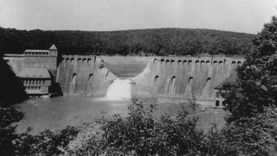 The Eder dam after the attack. PHOTO: © U.K. National Archives