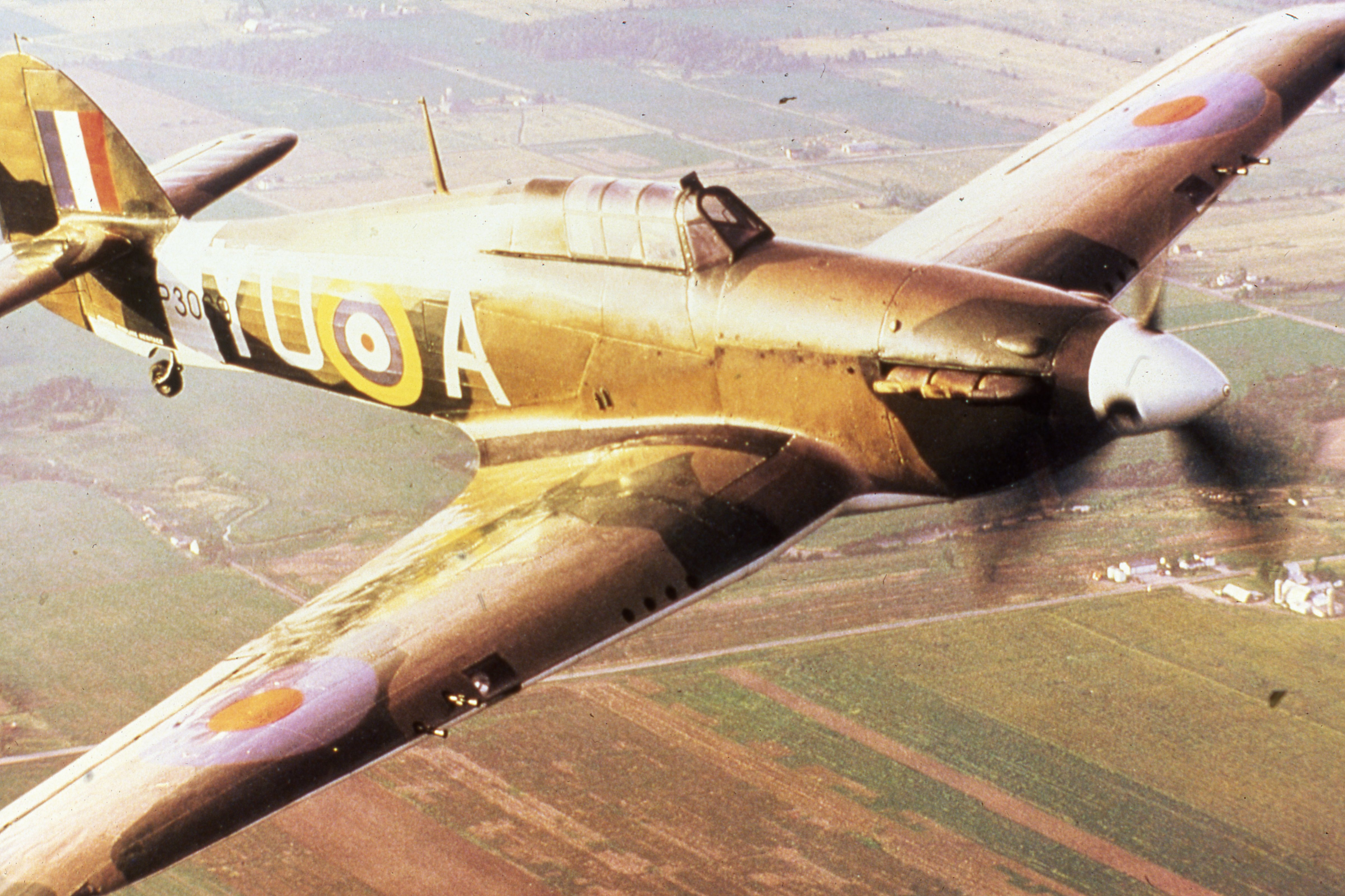 "A Hawker Hurricane with No.1 Squadron's unit designator ""YO"". PHOTO: Submitted"