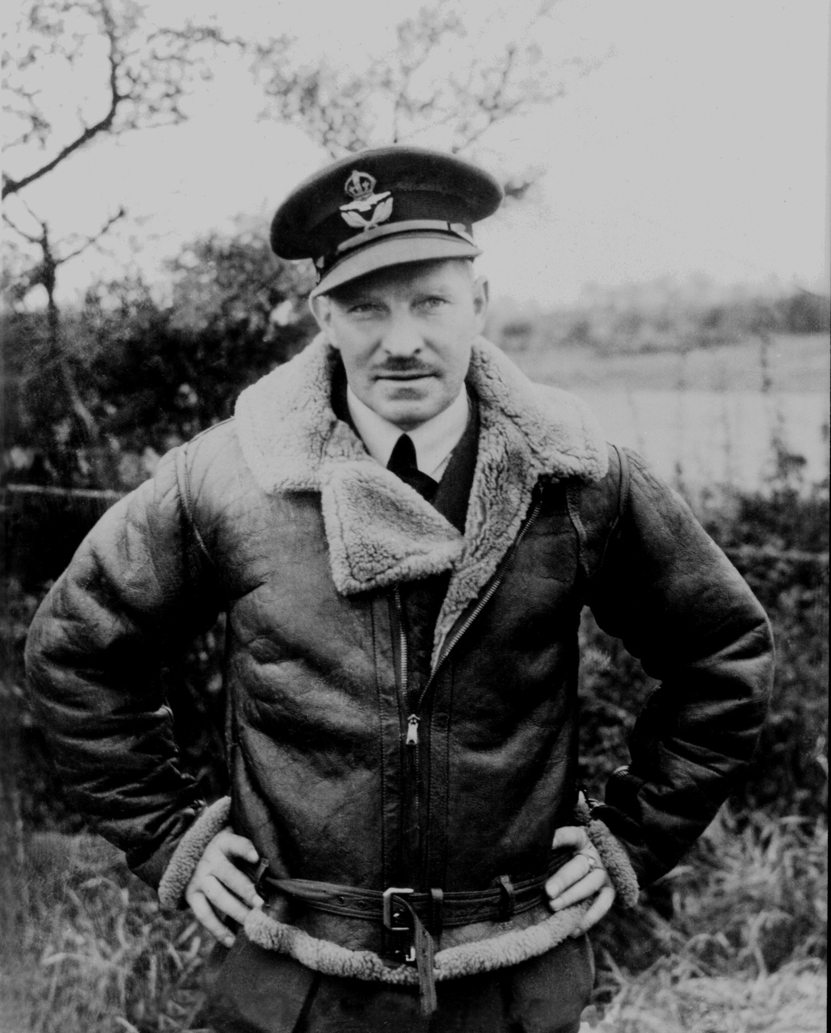 Squadron Leader Ernest Archibald McNab of Rosthern, Saskatchewan, circa 1940 in England. PHOTO: DND Archives, PL-905