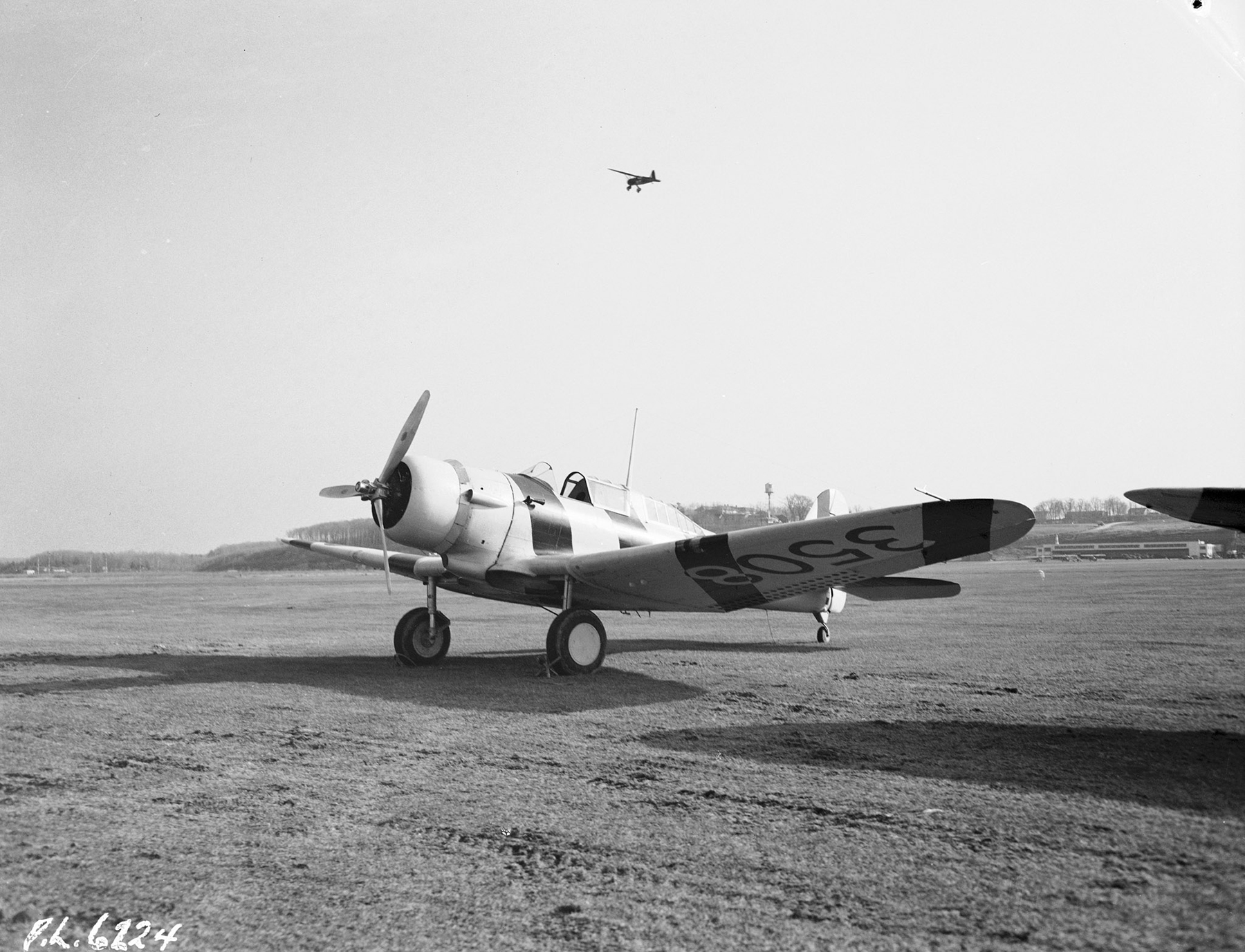 A port-front view of a Northrop Nomad.