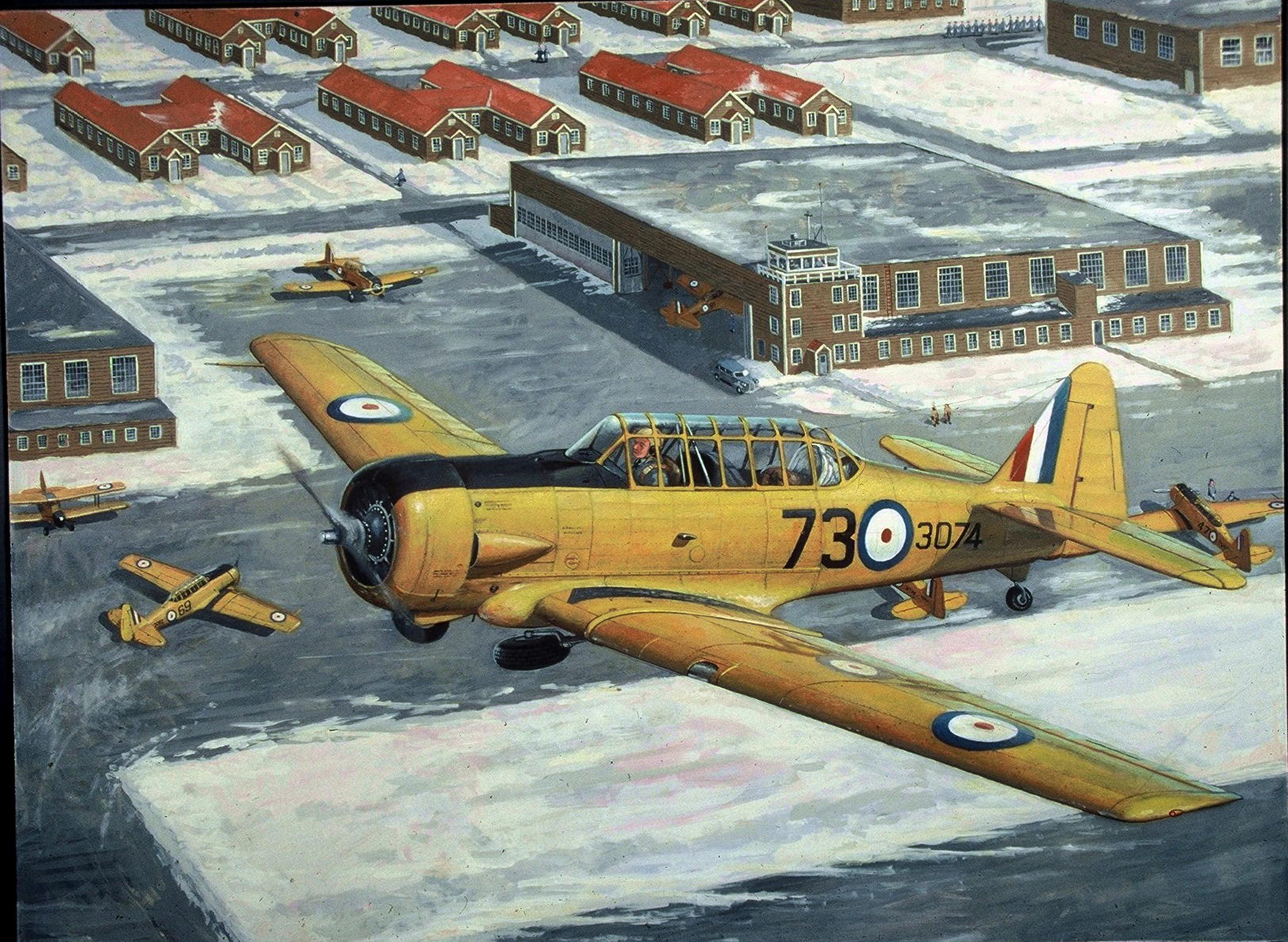 """BCATP Harvard"" by Don Connolly"