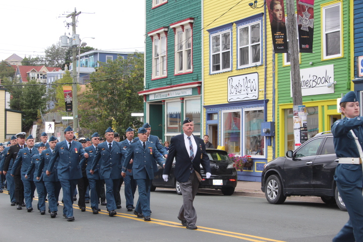 To mark the 76th anniversary of the Battle of Britain, members of RCAF Reserve Flight Torbay parade through St. John's, Newfoundland and Labrador, on September 18, 2016. PHOTO: Sergeant Sandra Keiley