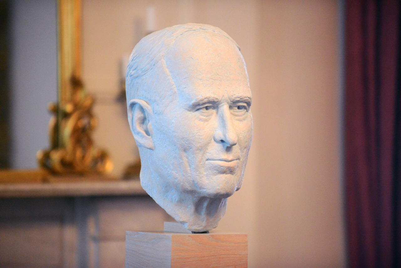 This portrait bust of J.A.D. McCurdy – Canada's first pilot – was unveiled at Government House in Halifax, Nova Scotia, in the summer of 2016. PHOTO: Michael Creagen