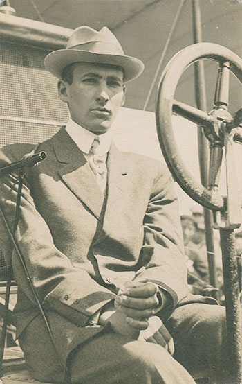 J.A.D. McCurdy sits in a Curtiss bi-plane at Daytona, Florida, on March 28, 1911 – only two years after he became Canada's first pilot by flying the Silver Dart on February 23, 1909, in Baddeck, Nova Scotia. PHOTO: Nova Scotia Archives, no. 1007-058/003, no. 14