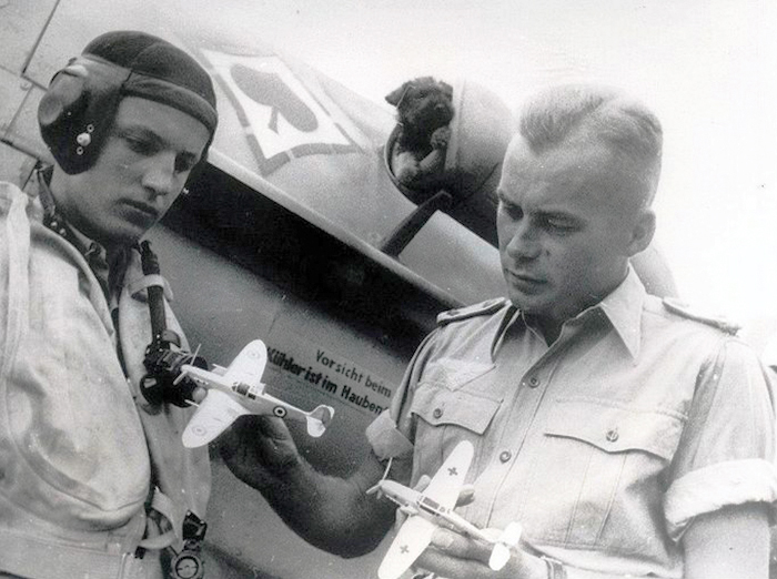 The greatest of all the Malta-tested fighter aces on either side was Oberstleutnant Gerhard Michalski (right) of Jagdgeschwader 53, the Pik-As (Ace of Spades.) He shot down 29 Allied aircraft while based on the island of Pantallaria and was the greatest threat to the ferrying of Allied fighter aircraft to Malta. By war's end, Oberstleutnant Michalski had scored 73 victories in 652 combat missions. He died in 1946 in an automobile accident. PHOTO: Via Pinterest