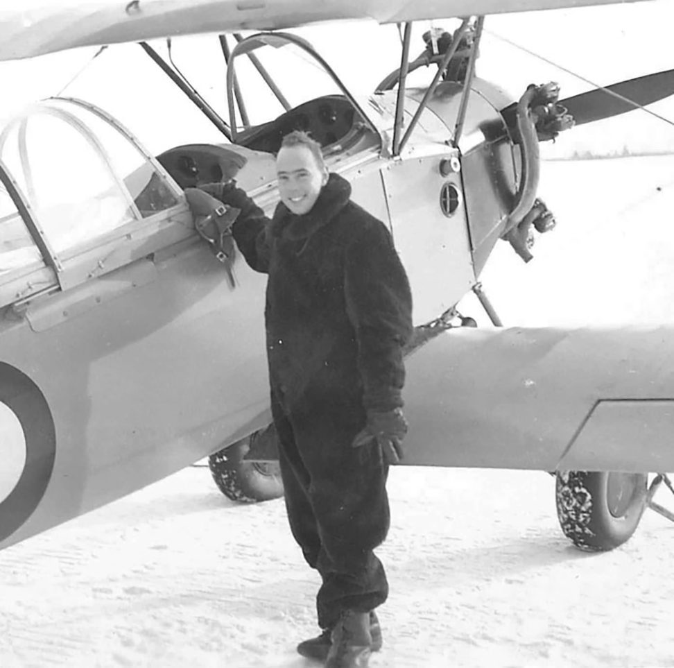 A smiling David Rouleau during happier times, learning to fly at No. 13 Elementary Flying Training School at St. Eugène, Ontario. For every ace at Malta, there were many who, like Pilot Officer Rouleau, would pay the ultimate price to join the fight. PHOTO: Courtesy Peg Christie