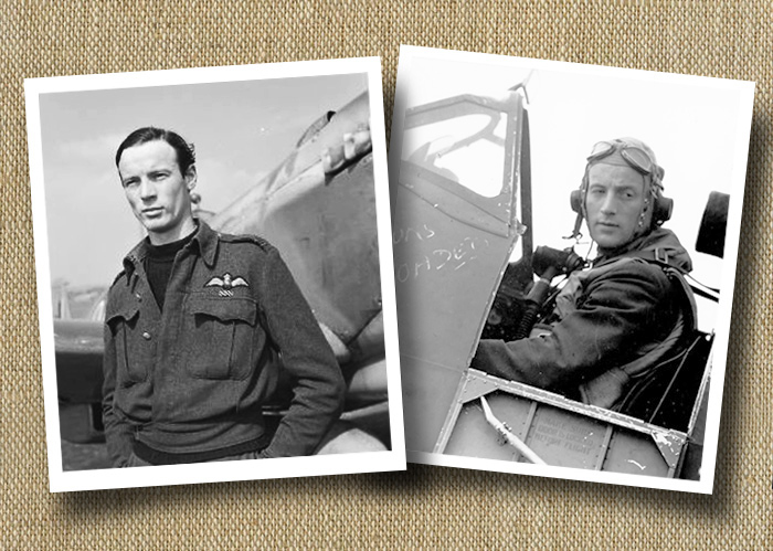 Flight Lieutenant Rod Smith (left) shared an aerial victory over Malta with his brother, Pilot Officer Jerry Smith. They were perhaps the only brothers in history that were fighter pilots who combined their skills to shoot down a single adversary. Following Rod's death in 2002, his younger sister Wendy took his ashes to Malta and a visiting Spitfire pilot deposited them in the Mediterranean Sea over the spot where Jerry was thought to have crashed. The ashes were delivered in much the same way as the flaps were set for takeoff on Club Runs. They were placed inside the flap cavity and the flaps were lowered in flight allowing Rod's ashes to fall away into the sea to join his brother. PHOTOS: Left, AcesWarriorsandWingmen.ca, and right, courtesy Pierre Lagacé, georgesnadon.wordpress.com