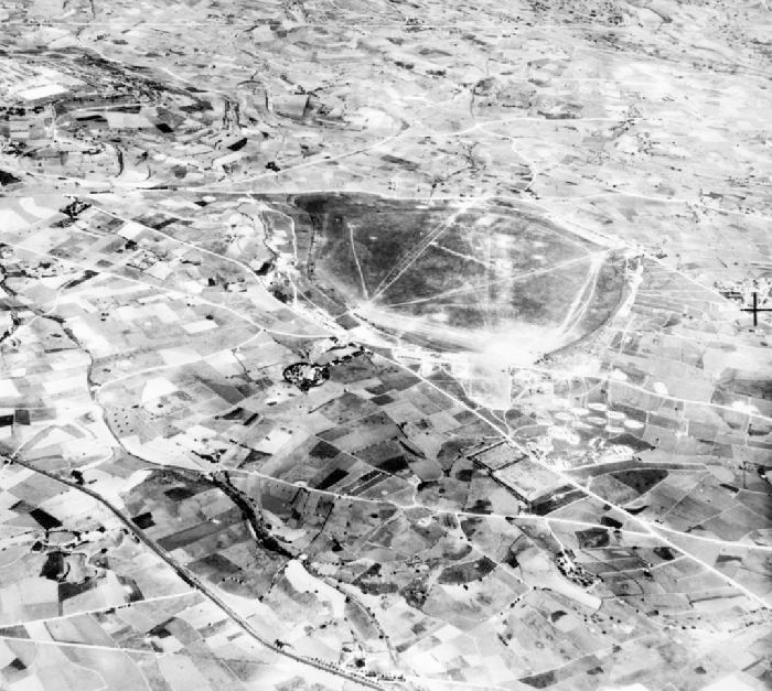 Seen here in 1941, Ta' Qali airfield (spelled Takali by the RAF) on the island of Malta, was named after a small village nearby. The field was one of the most bombed airfields of the Second World War and remained an operational RAF base into the 1950s. PHOTO: Wikipedia