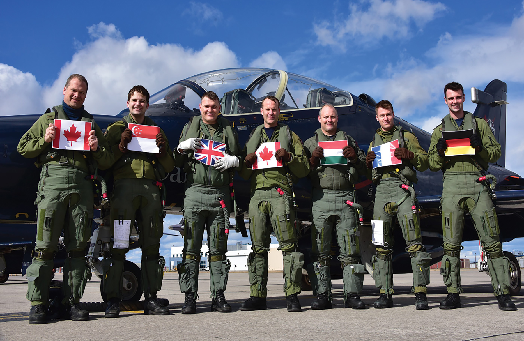 Under the NATO Flying Training in Canada (NFTC) program, 419 Squadron has, since 2000, provided training to a multinational student population via an equally diverse group of instructors. PHOTO: Mike Reyno, Skies magazine