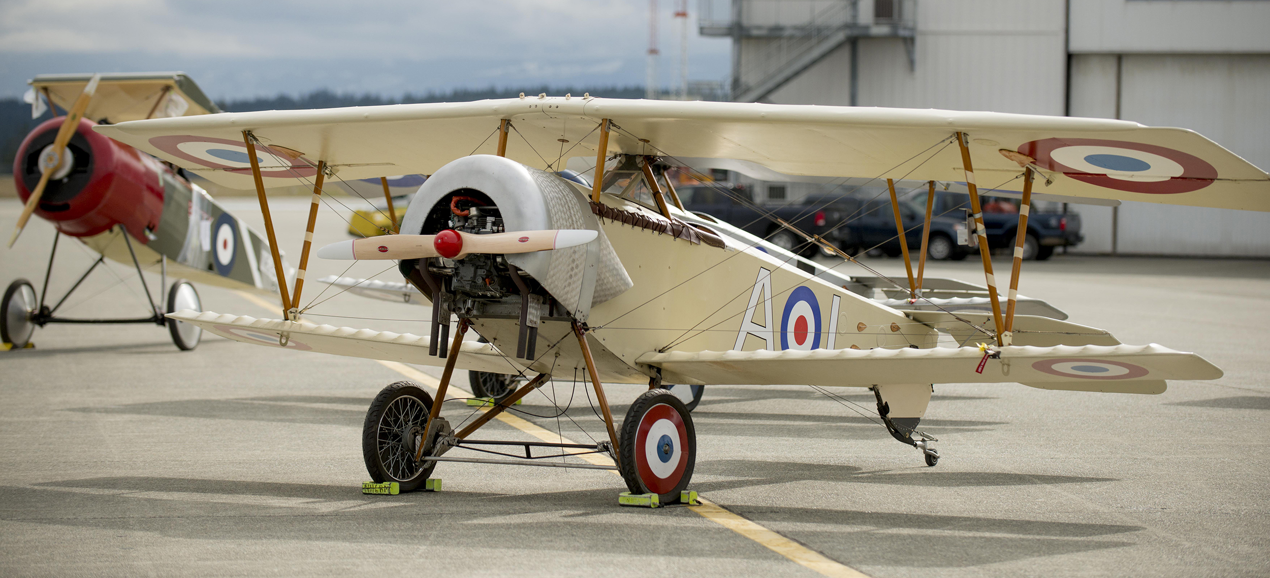 A Nieuport XI waits its turn to be loaded onto a CC-177 Globemaster III from 429 Transport Squadron at 19 Wing Comox, British Columbia, on March 15, 2017. PHOTO: Master Seaman Roxanne Wood, CX04-2017-0100-13