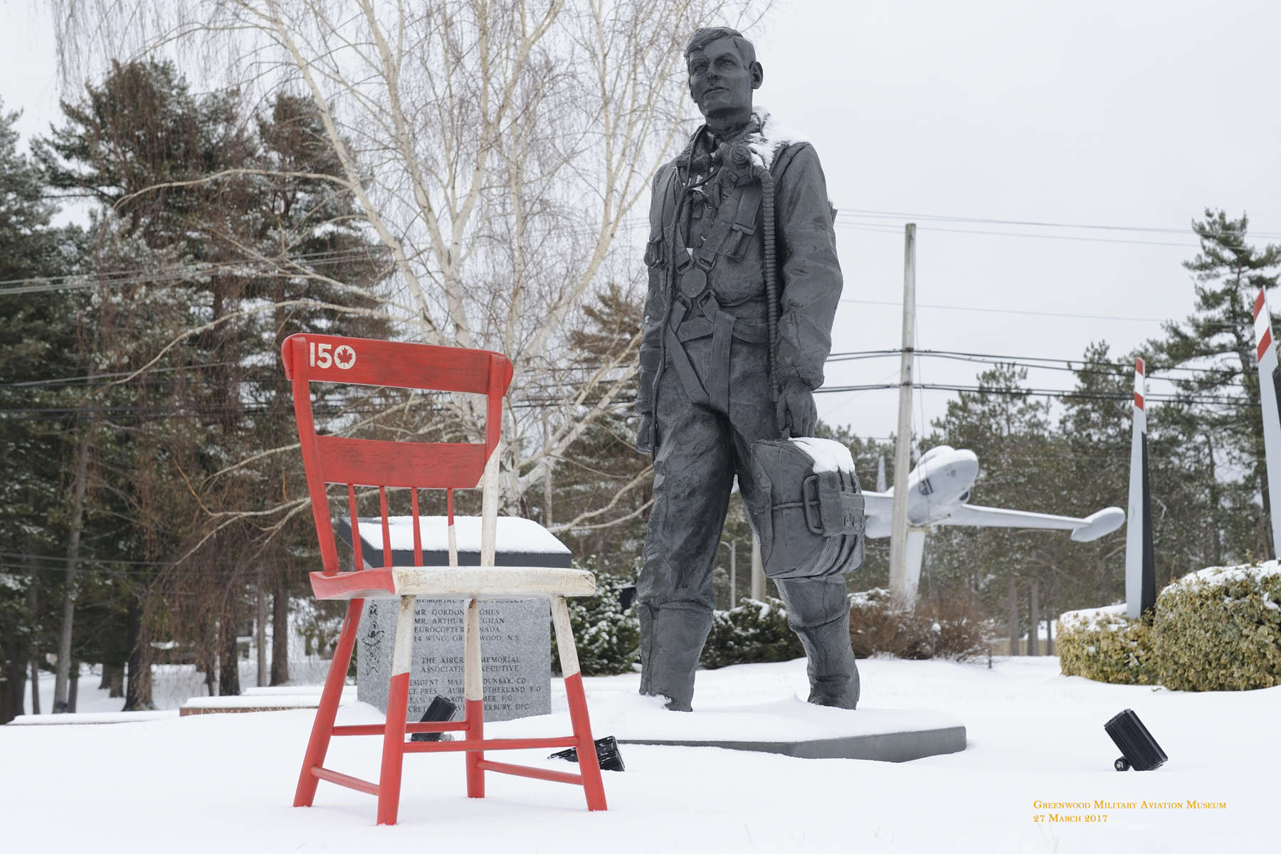 "The Kings County Museum's ""Canada 150 Chair"" was photographed by a 14 Wing Greenwood, Nova Scotia, imagery technician at the Greenwood Military Museum on March 27, 2017. PHOTO:  Corporal Karen Neate"