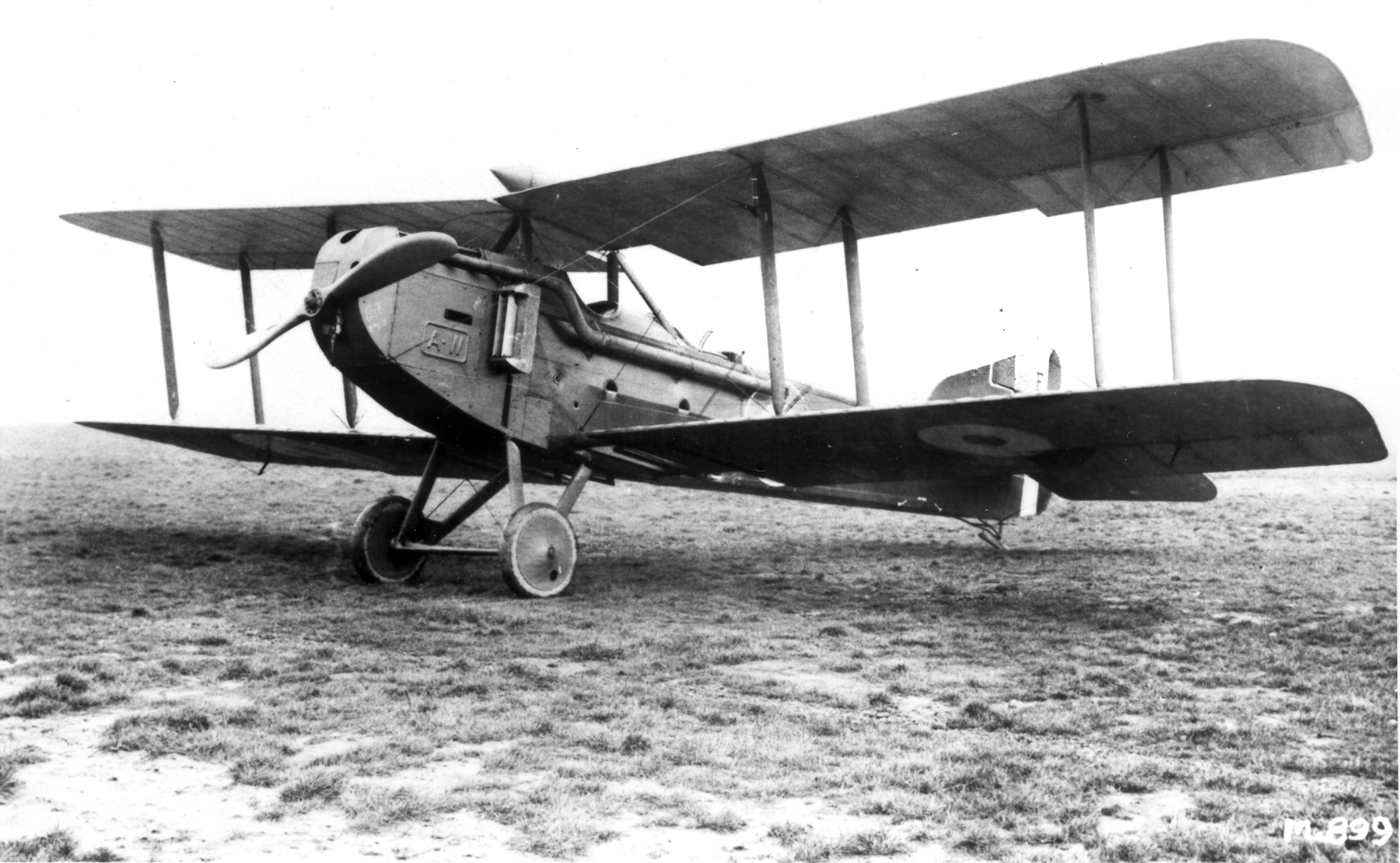 An Armstrong-Whitworth FK8 similar to the one piloted by Second Lieutenant Alan McLeod that was downed by eight enemy aircraft on March 27, 1918, in an attack that exploded the gas tank and caused the flaming aircraft to crash. PHOTO: DND/LAC PA 006297