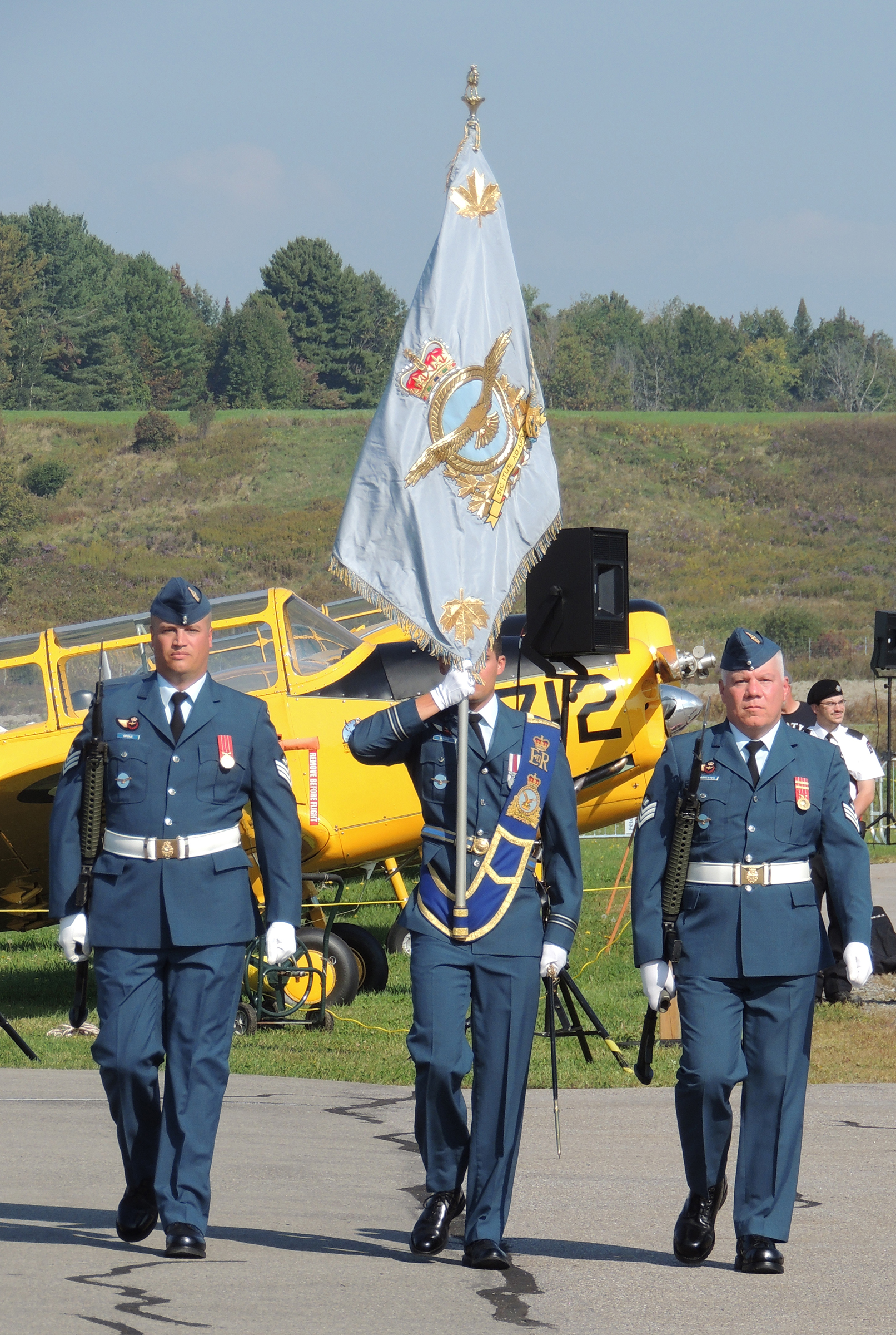 The national Battle of Britain parade, held September 17, 2017, was the first time the new RCAF's new Command Colour was paraded since it was presented by Governor General and Commander-in-Chief of Canada David Johnston on September 1, 2017. PHOTO: Joanna Calder