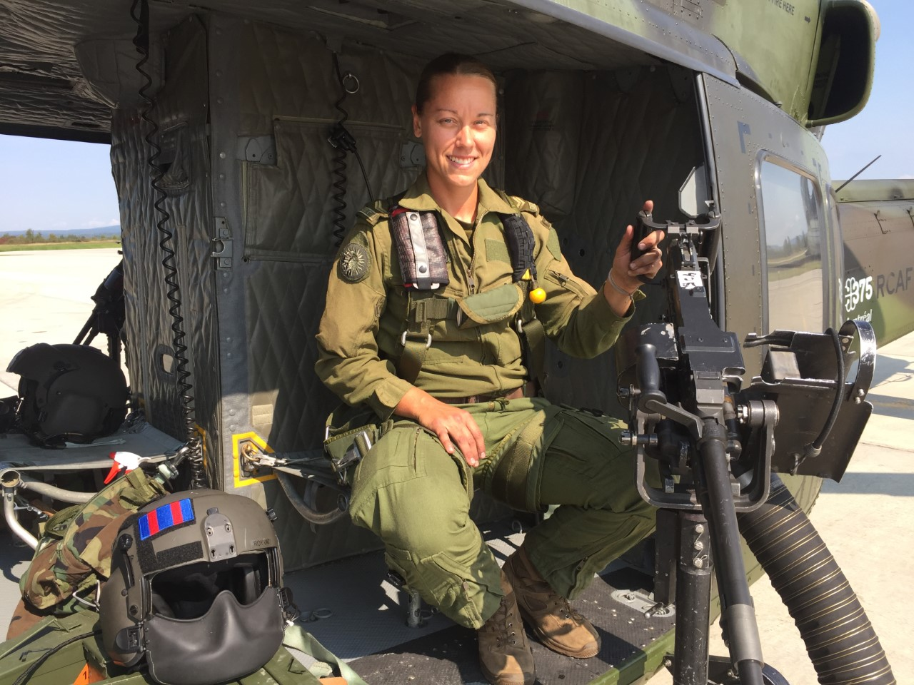 Corporal Alexandra Roy seized the opportunity to serve as a door gunner for two years. PHOTO: Adsum.