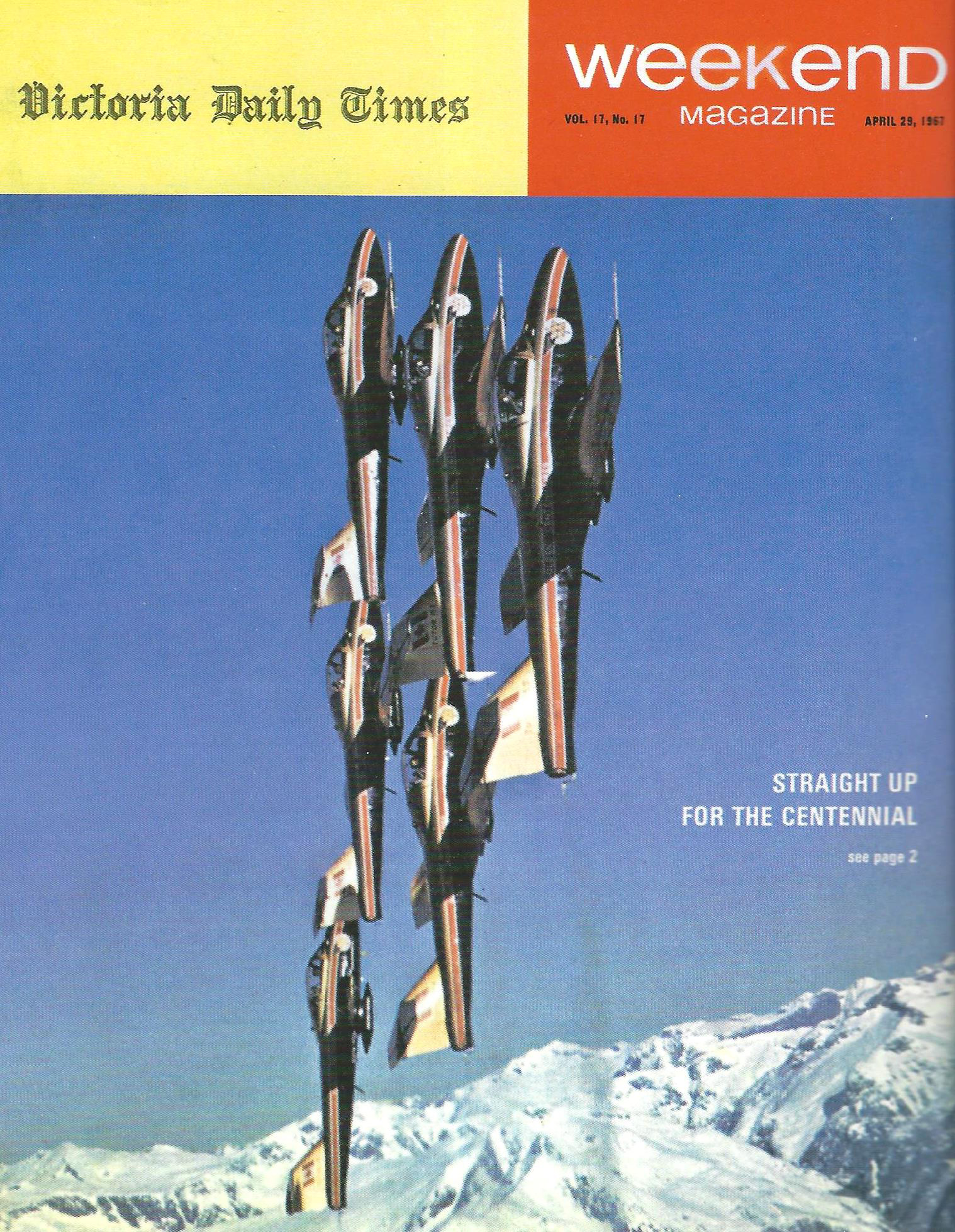 The Weekend Magazine cover that heralded the beginning of the Centennaires' 1967 airshow season. PHOTO: Bruce Moss