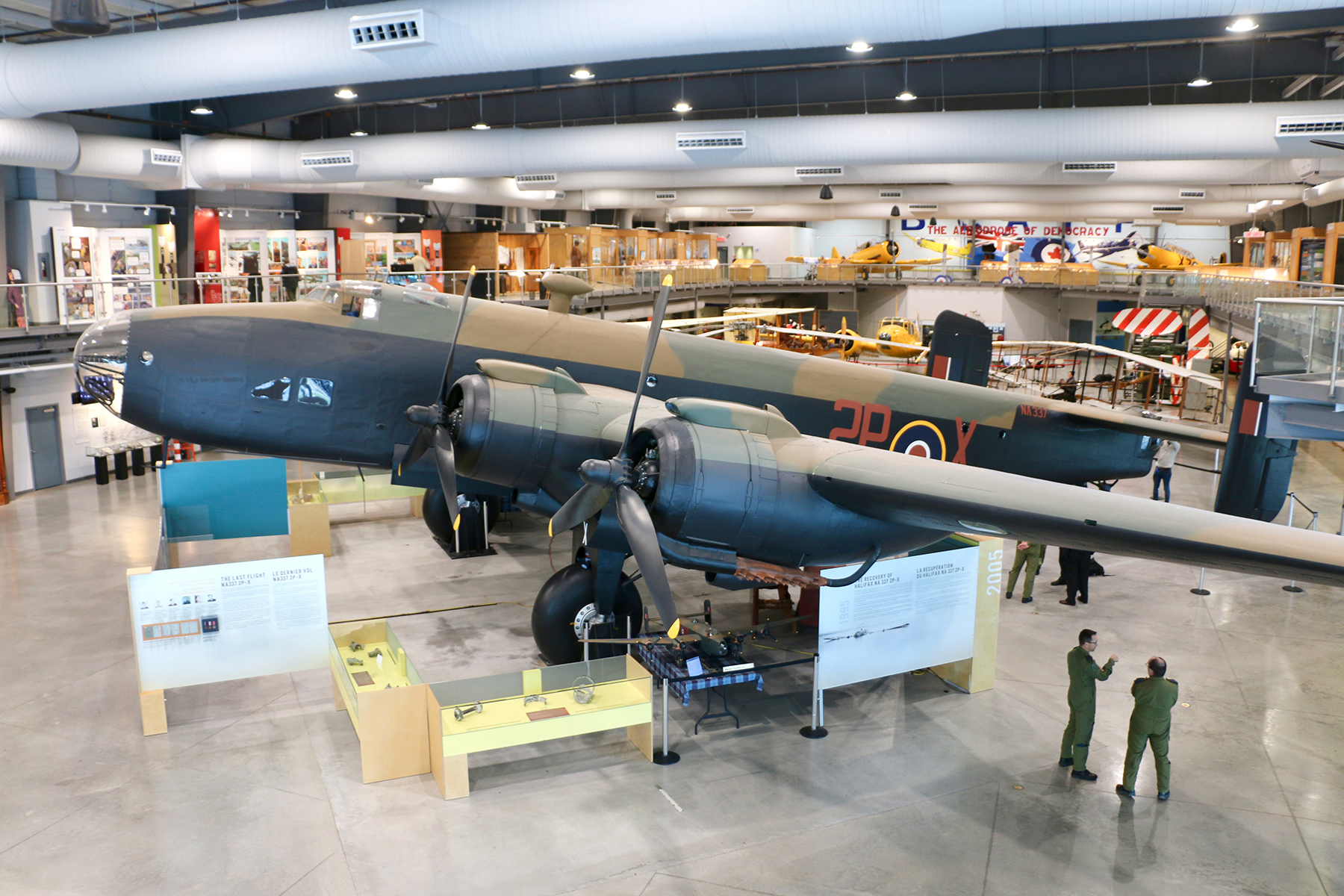 From the gallery, the Handley Page Halifax Heavy Bomber dominates the display floor at the National Air Force Museum of Canada in Trenton, Ontario. PHOTO: Makala Chapman