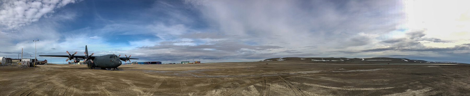 A panoramic view of Resolute Bay Airport, in Nunavut. PHOTO: Ignatius Rigor