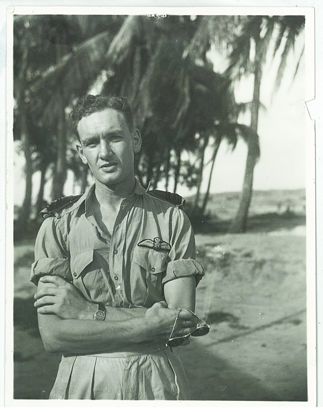 Flying Officer John Hart, from Sackville, New Brunswick, flew Spitfires with the Royal Air Force's No. 602 Squadron during the Battle of Britain. This photo was taken during a tour in India later in the war. PHOTO: Courtesy of John Hart