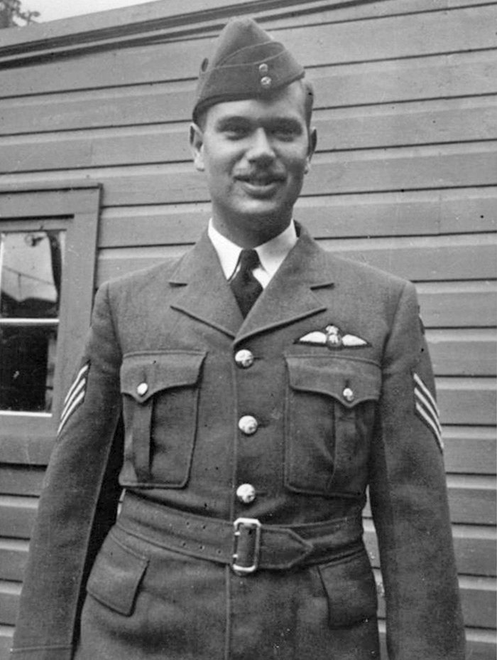 Shortly after receiving his pilot's wings and being promoted to flight sergeant in September 1941, Lewis Johnstone Burpee took leave for home in Ottawa. Here we see him neatly turned out at his family cottage along the Rideau waterway system. He was just 23 years old. PHOTO: Via the Canadian Virtual War Memorial