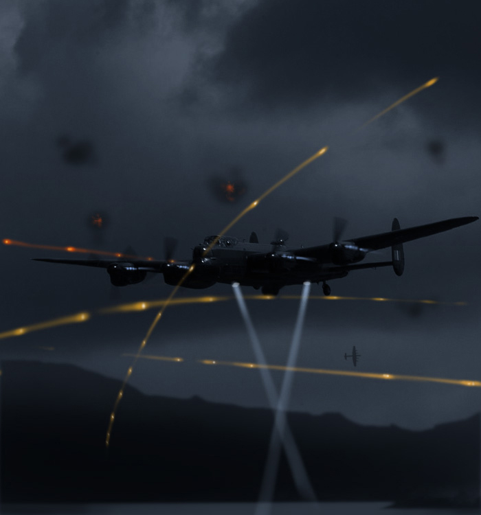 If 617 Squadron crews made it through to their targets, they faced one of the most dangerous attack scenarios in bombardment history—at extreme low level, at night, at specific heights, speeds and distances against heavily defended targets. Illustration: Dave O'Malley