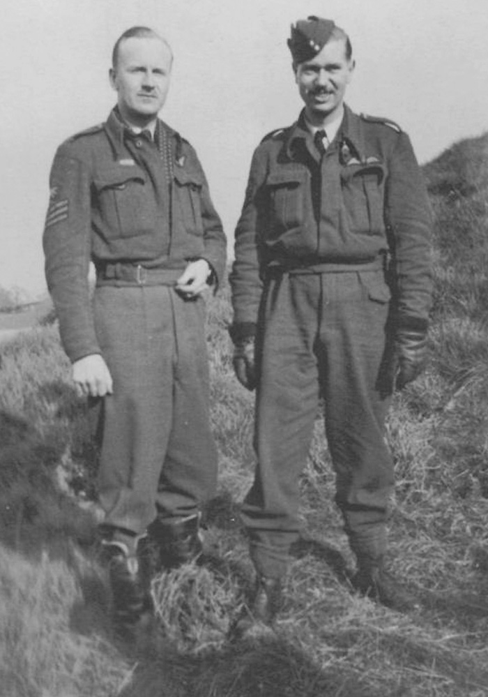 Sergeant Leonard George Weller, wireless operator and Pilot Officer Lewis Burpee. Weller, another Canadian, was a member of Burpee's Lancaster crew and also died during the raid. PHOTO: Via the Canadian Virtual War Memorial