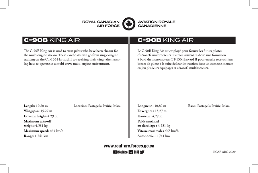 C-90B King Air fact sheet details