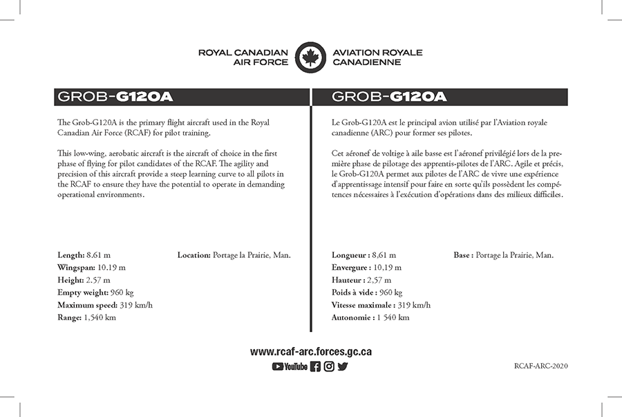 Grob-G120A fact sheet details