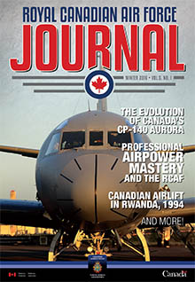 Cover of RCAF Journal - WINTER 2016 - Volume 5, Issue 1