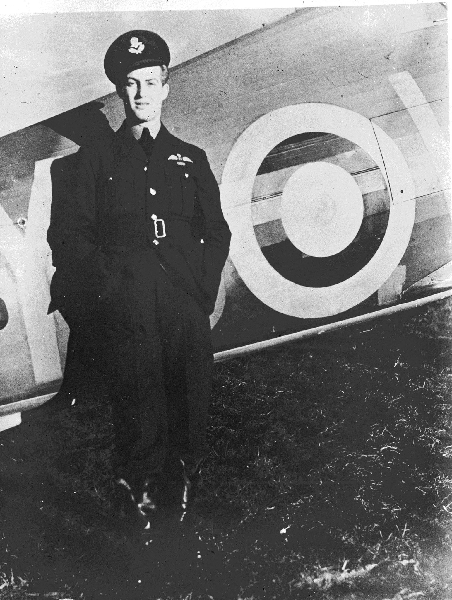 "Flying Officer Blair Dalzell ""Dal"" Russel stands beside a Hawker Hurricane on February 24, 1941, while serving with the RCAF's 401 Squadron. A Battle of Britain pilot, Russel was the first commander of 126 Wing, from July to October 1943 and then again from July 1944 to January 1945. Between those two postings, he accepted a demotion so he could command 442 Squadron. PHOTO: DND Archives, PL-3093"