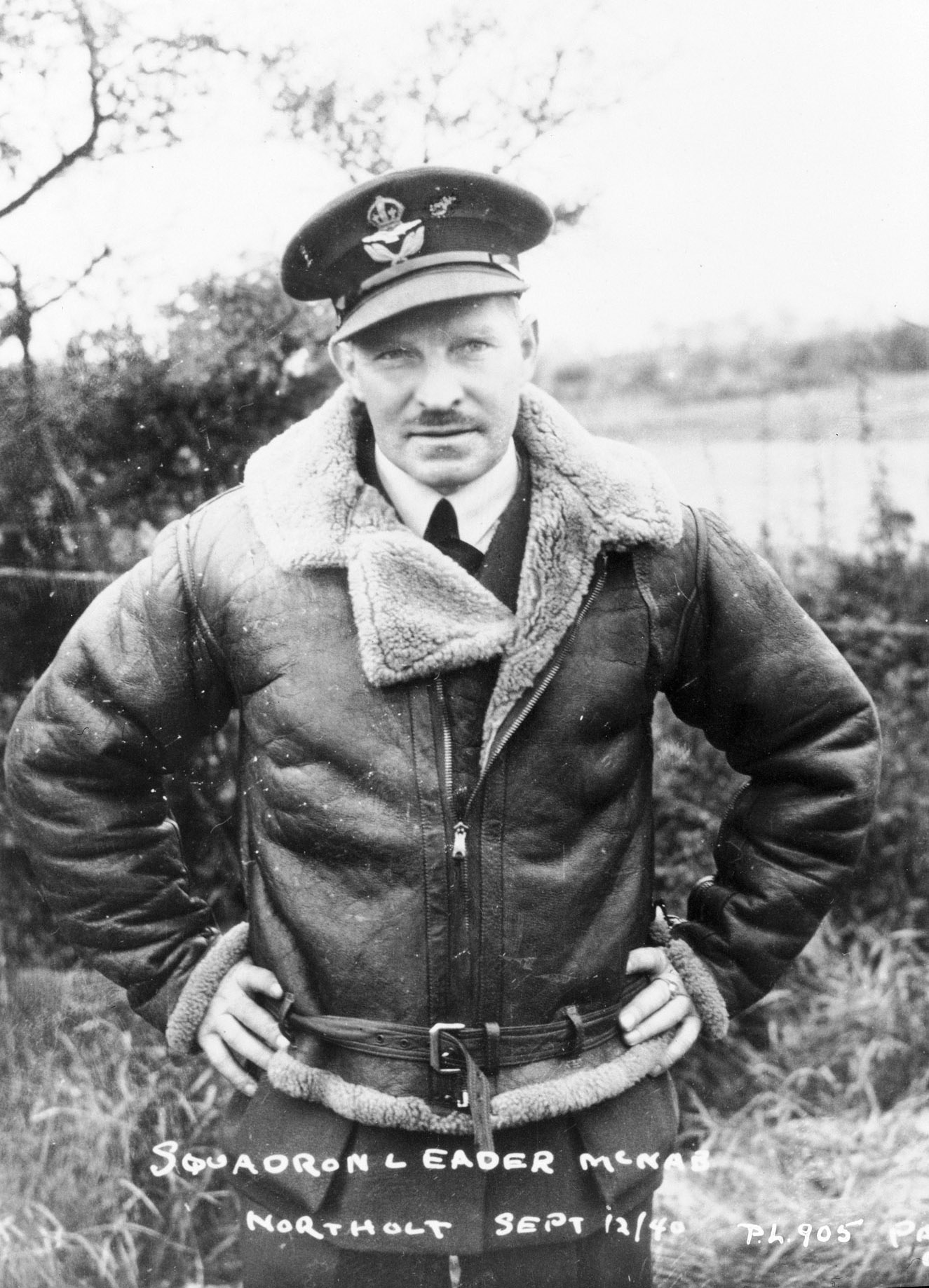 Squadron Leader Ernest Archibald McNab, photographed at Northolt, England, on October 24, 1940, as the Battle of Britain was winding down, went on the command the RCAF's 118 Squadron, whose role it was to provide air defence of Halifax, Nova Scotia. PHOTO: DND Archives, PL-905