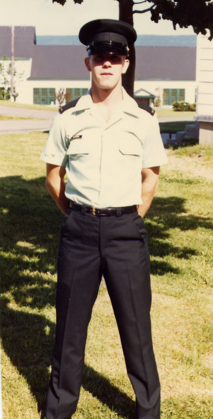 In 1984, Keith Mitchell moved from the Reserves to the Regular Force, re-taking basic training at Canadian Forces Base Cornwallis. PHOTO: Submitted